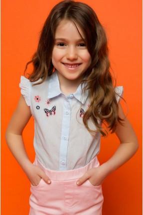 قميص اطفال مطرز - ازرق