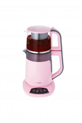 ماكينة شاي كهربائية - وردي