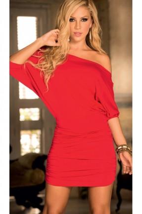 فستان احمر قصير لانجري
