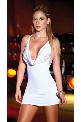 فستان ابيض قصير لانجري