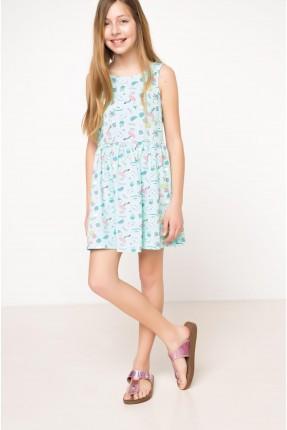 فستان اطفال مزهر