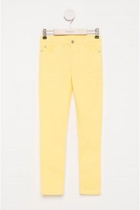 بنطال اطفال بناتي - اصفر