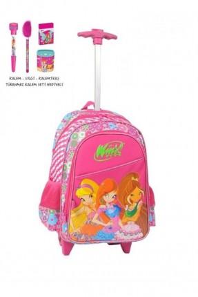 حقيبة مدرسة للبنات - وردي