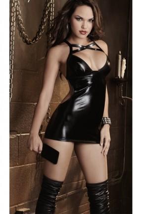 فستان جلد لانجري مثير