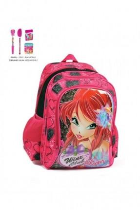 حقيبة ظهر مدرسية للبنات - وردي