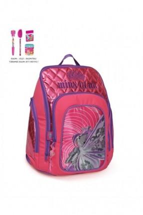 حقيبة ظهر مدرسية - وردي
