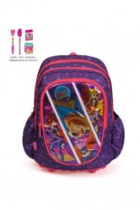حقيبة ظهر مدرسية للبنات - بنفسجي