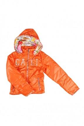 معطف اطفال بناتي - برتقالي