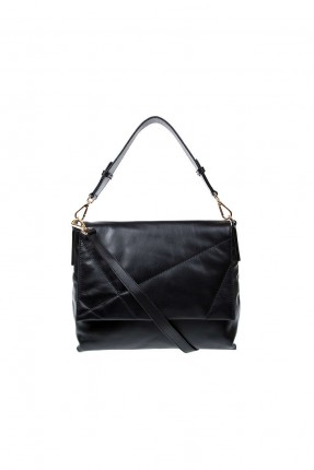 حقيبة يد جلد نسائية - اسود