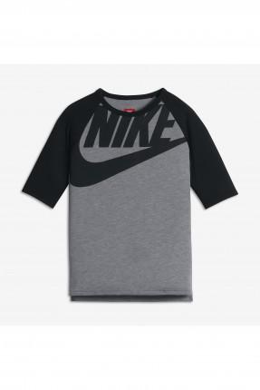 تيشرت اطفال بناتي Nike - رمادي