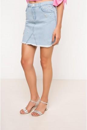 تنورة قصيرة مشكوكة - ازرق