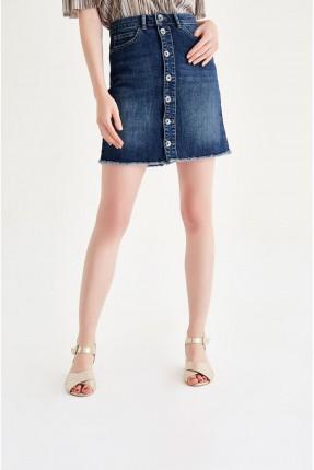 تنورة قصيرة جينز - ازرق