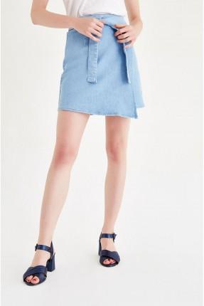 تنورة قصيرة - ازرق فاتح