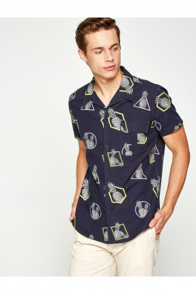 قميص رجالي نقشة اناناس