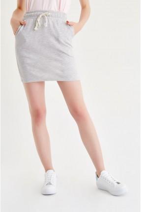 تنورة قصيرة - فضي