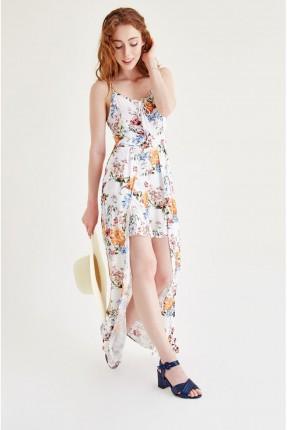 فستان منقوش ملون