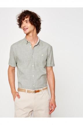 قميص رجالي - خاكي