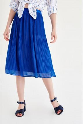 تنورة قصيرة كسرات - ازرق