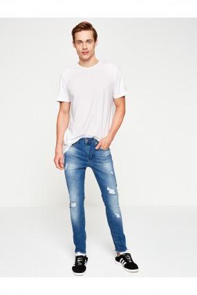 بنطال جينز ممزق - ازرق