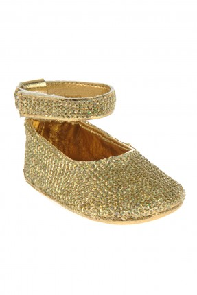 حذاء بيبي بناتي - ذهبي