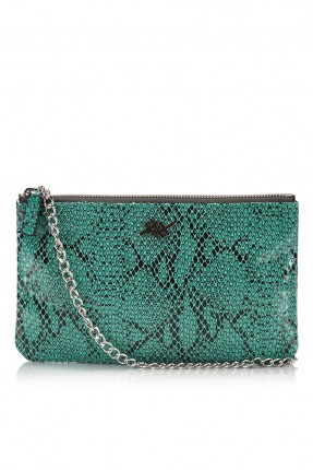 حقيبة يد نسائية منقوشة - اخضر