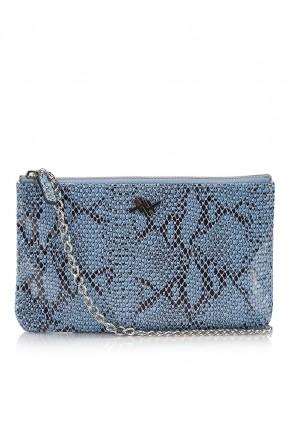 حقيبة يد نسائية مزخرفة - ازرق