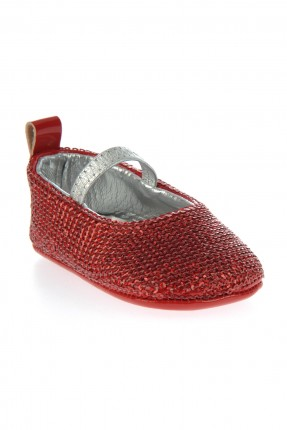 حذاء بيبي بناتي - احمر