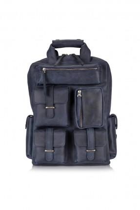 حقيبة ظهر رجالية مع جيوب - كحلي