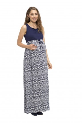 فستان حمل طويل - ازرق