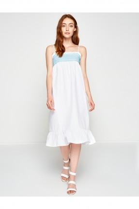 فستان نسائي شيال - ابيض
