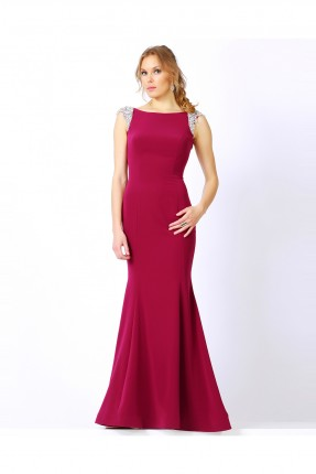 فستان رسمي ضيق - خمري