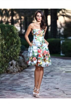 فستان قصير رسمي مزخرف