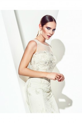 فستان زفاف مديل سمكة