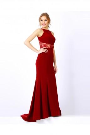 فستان رسمي طويل - خمري