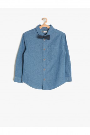 قميص اطفال ولادي -  نيلي