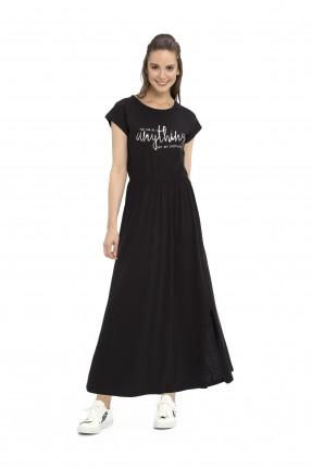 فستان طويل - اسود