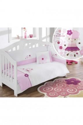 طقم سرير بيبي مع ورد