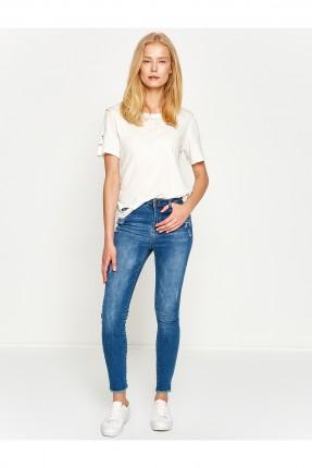 بنطال نسائي جينز - ازرق