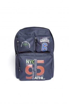 حقيبة مدرسية اطفال ولادي _ ازرق داكن