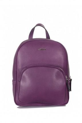 حقيبة ظهر نسائية جلد - موف