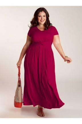 فستان سبور طويل _ فوشيا