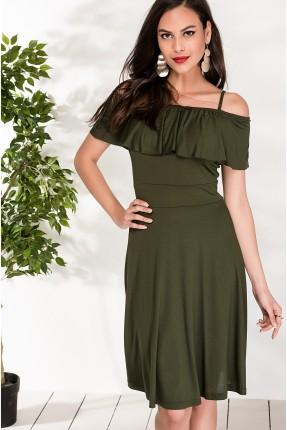 فستان سبور مع كشكش _ زيتي