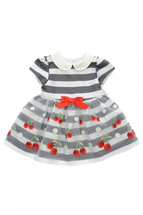 فستان بيبي بناتي مع طبعة كرز