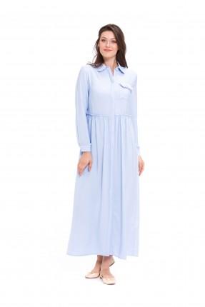 قميص نسائي طويل _ ازرق