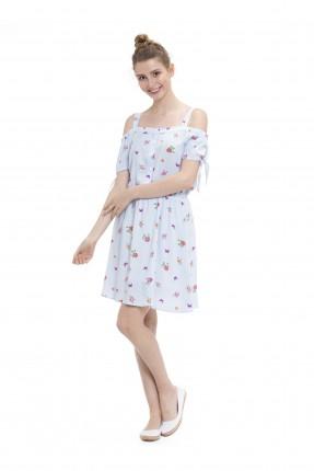 فستان بدون اكتاف