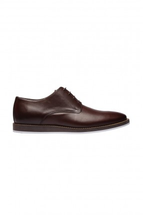 حذاء رجالي جلد _ بني