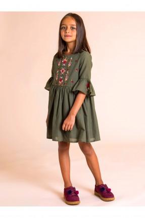 فستان اطفال مطرز _ زيتي