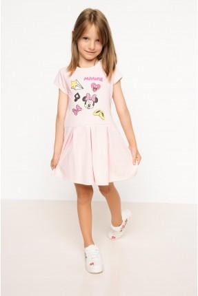 فستان اطفال مع طبعة - زهري